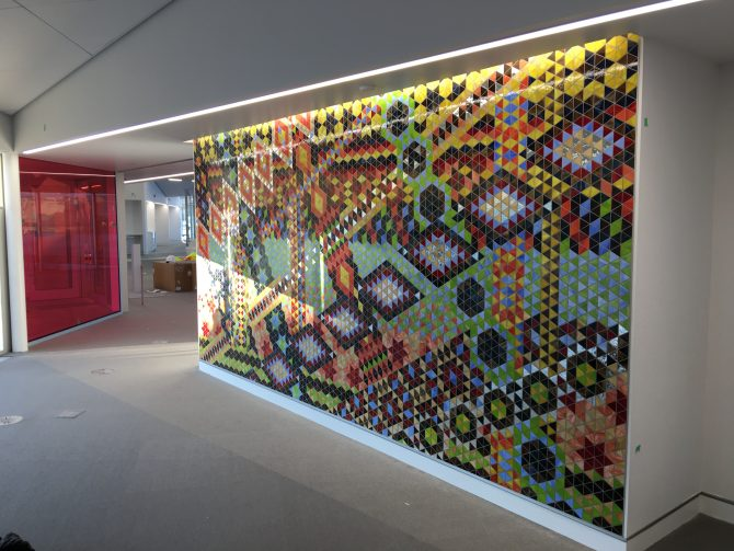 The new Calder Branch features a mosaic mural.