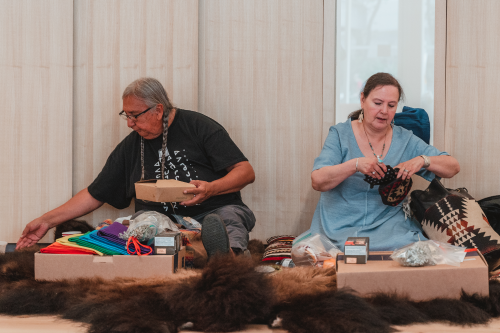 Pipe ceremony with Elders Jerry and Jo-Ann Saddleback