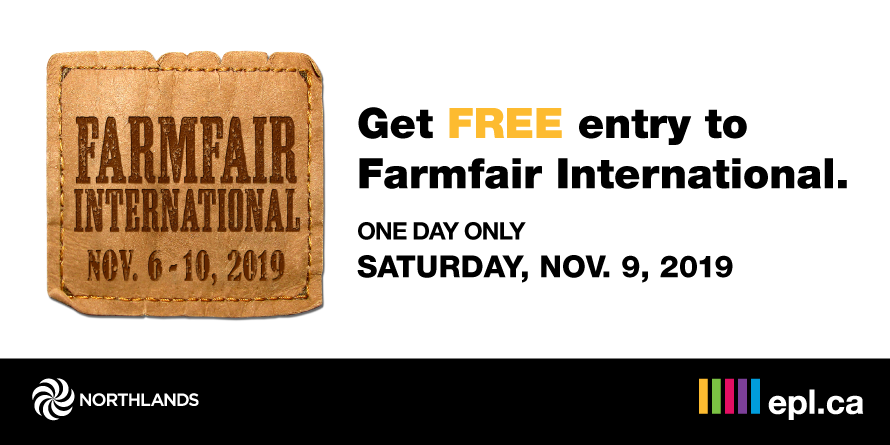 <p>Get Free Entry to Farmfair with your library card | Edmonton Public Library</p>
